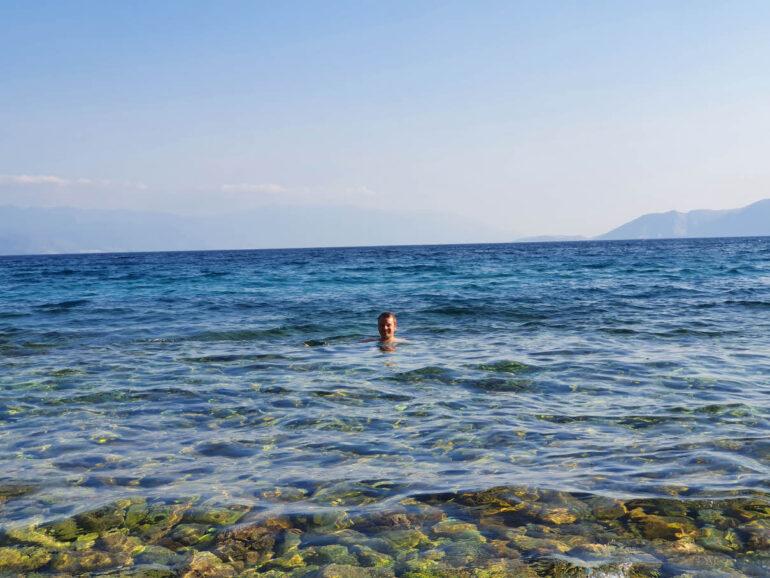 Steven swimming in the Adriatic Sea