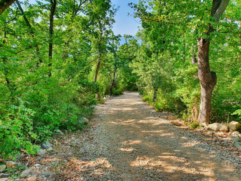 Gravel road to the beach