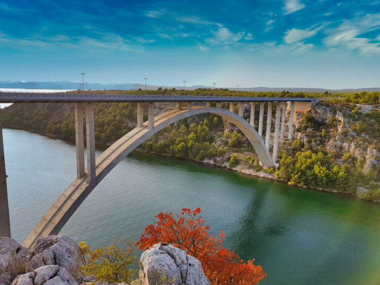 Sibenik Bridge over the Krka river