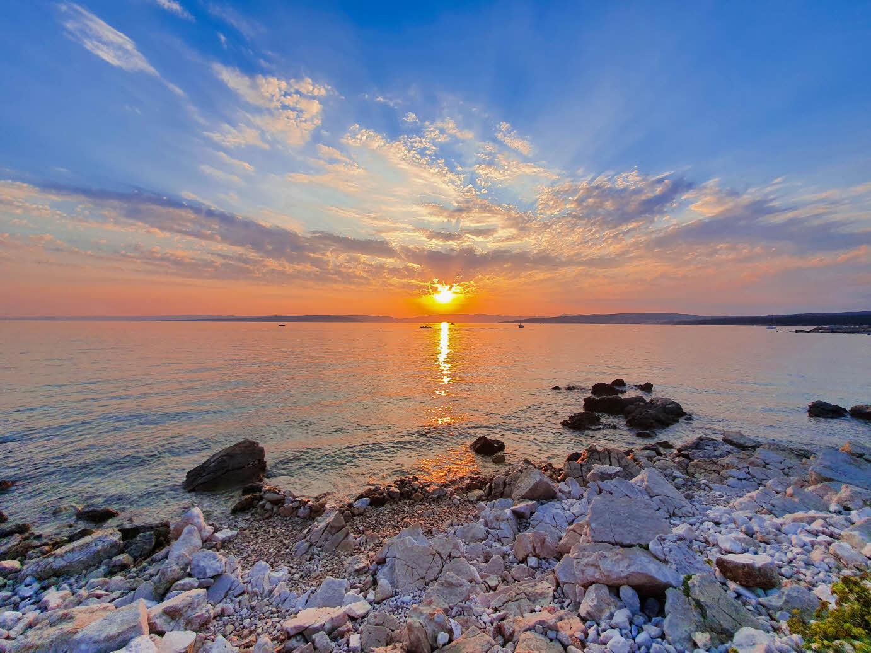 Sunset at Punat beach