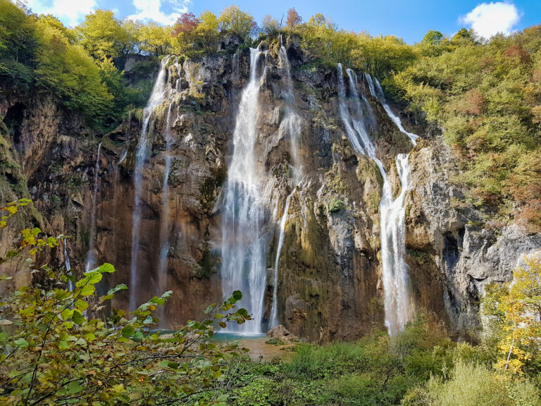 Veliki Slap, the big waterfall of Plitvice Lakes National Park