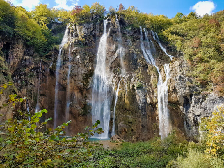 Veliki Slap, the big waterfall of Plitvice Lakes National Park Croatia
