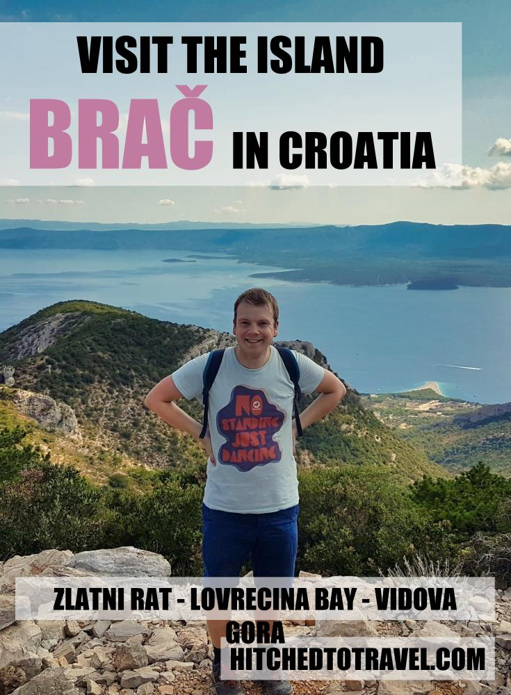 Visit the island Brač poster