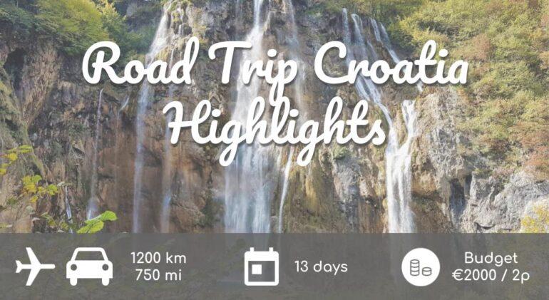 Poster 2 week Road Trip Croatia