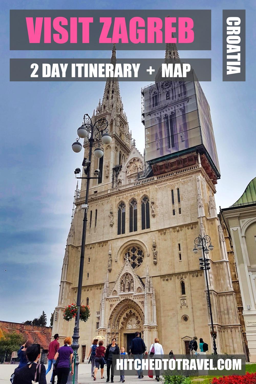 Poster Zagreb Travel Guide Croatia