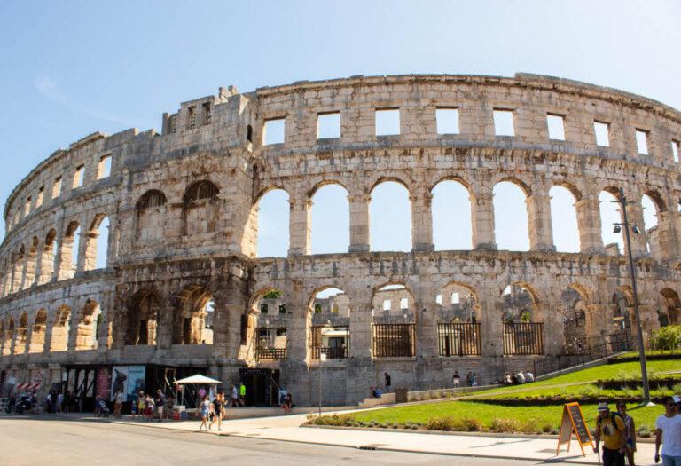 Amphitheater Pula Arena in Croatia