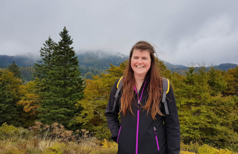 Elke and bad weather in Northern Velebit National Park