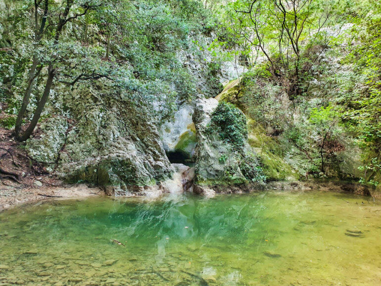 A dry waterfall close to Rabac