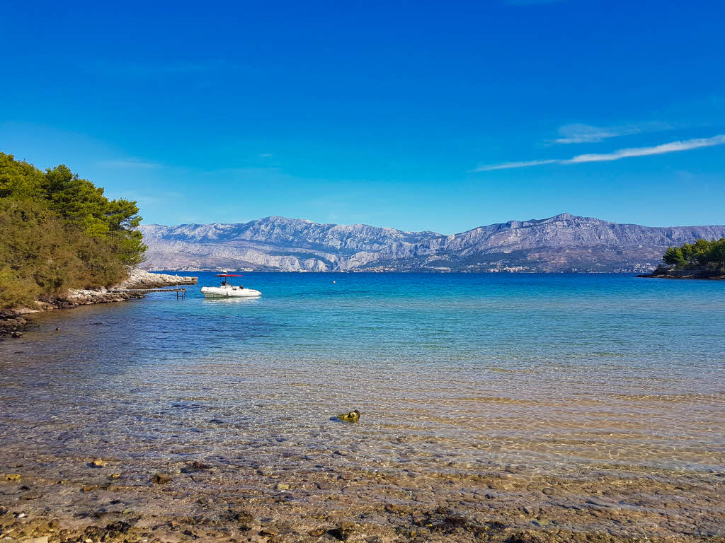 Lovrecina Bay beach on the island Brač