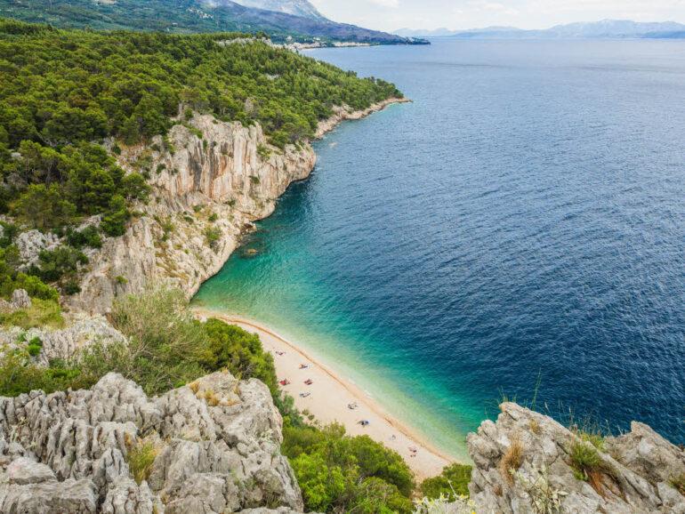 Nugal Beach near Makarska in Croatia, one of the top 10 beaches