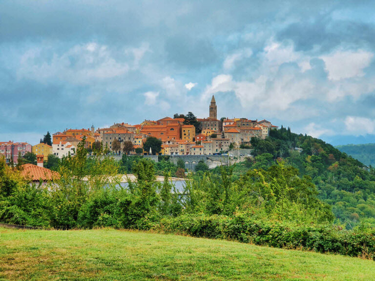 Labin old town in Istria County