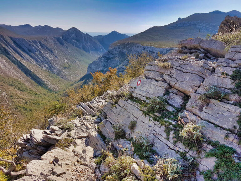 Viewpoint on the Paklenica mountains