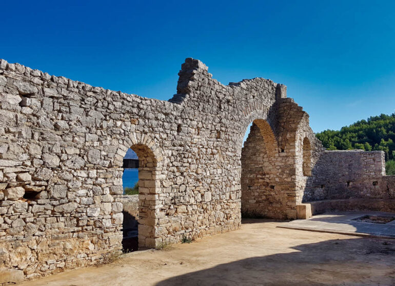 Ruins of an Early Christian Basilica close to Lovrečina Bay