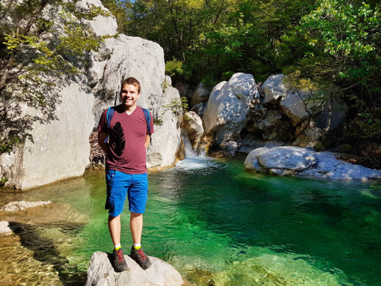 Small waterfall at Paklenica National Park