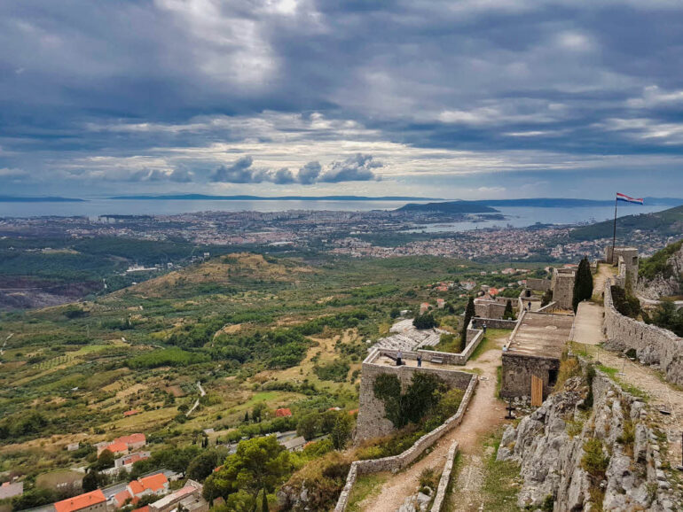 View on the sea and Split from Klis Fortress