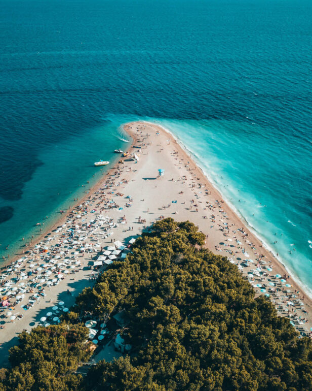 Zlatni Rat beach on the island Brač