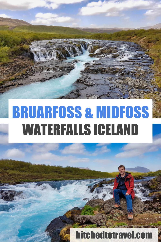 Bruarfoss waterfall poster