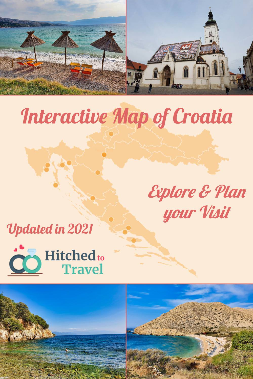 Poster map of Croatia