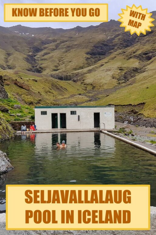 Poster Seljavallalaug swimming pool in Iceland