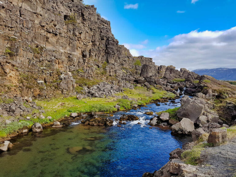Þingvellir National Park along the Golden Circle in Iceland