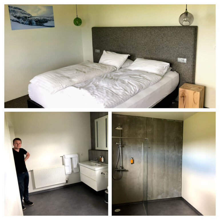 Rooms of the Litli Geysir Hotel in Iceland