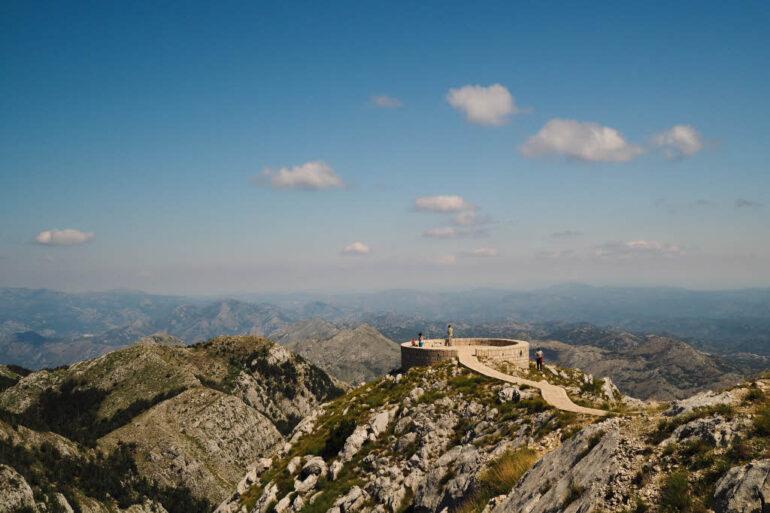 Mausoleum of Petar II Petrovic-Njegos in Lovćen National Park in Montenegro