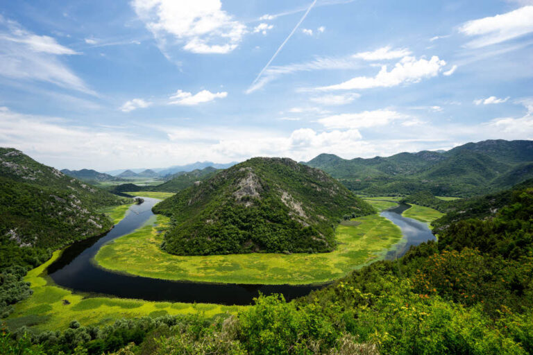 Pavlova Strana viewpoint at Skadar Lake National Park in Montenegro