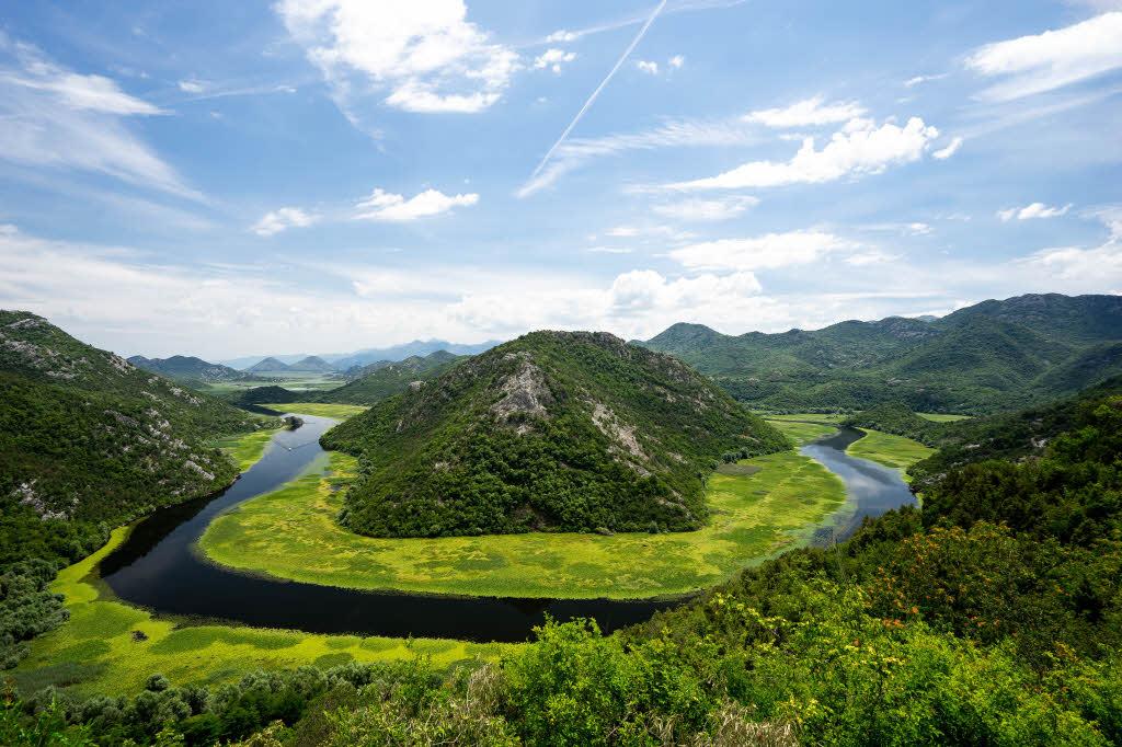 Pavlova Strana viewpoint at Skadar Lake National Park in Montenegro