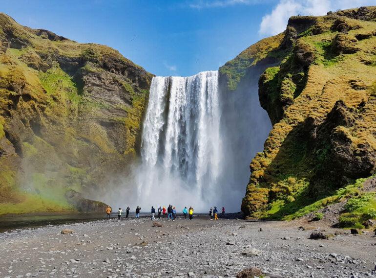 Skógafoss waterfall in Iceland