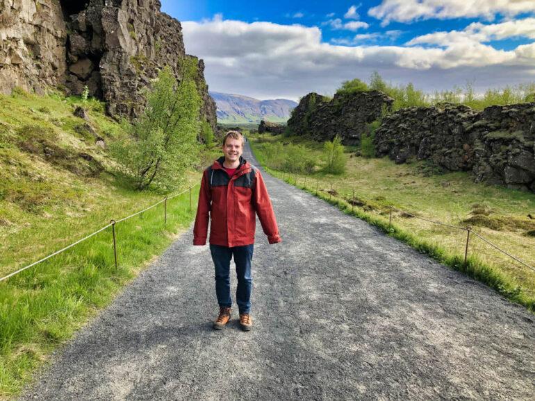 Steven at Þingvellir National Park