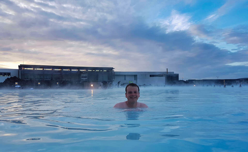 Steven at the Blue Lagoon in Iceland