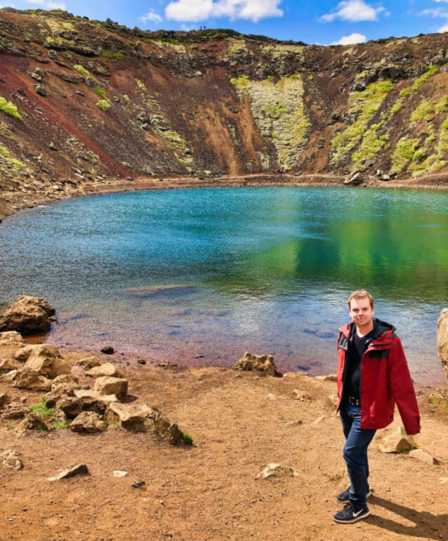 Steven at Kerið Crater in Iceland