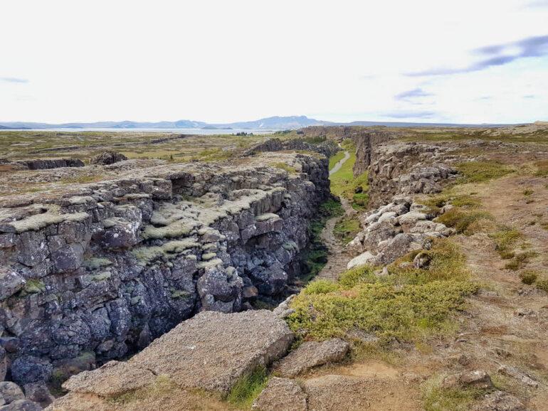 Fissure of Þingvellir National Park
